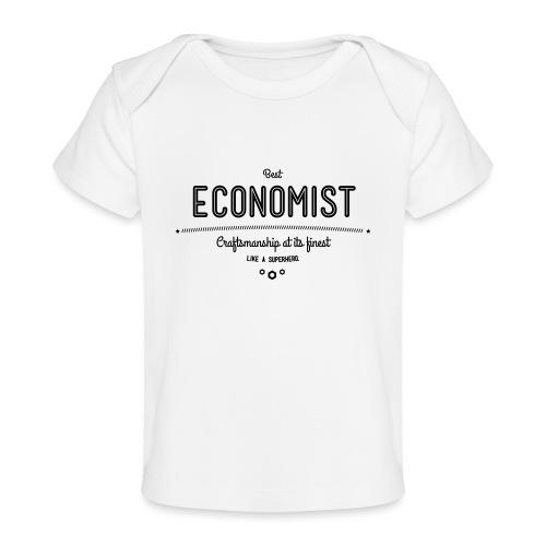 Bester Ökonom - wie ein Superheld - Baby Bio-T-Shirt