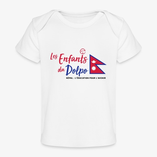 Les Enfants du Doplo - Grand Logo Centré - T-shirt bio Bébé