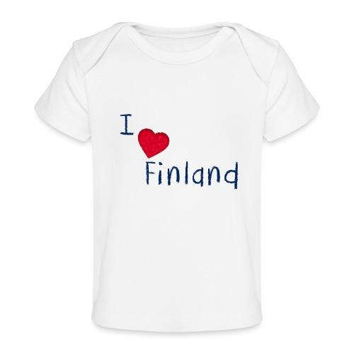 I Love Finland - Vauvojen luomu-t-paita