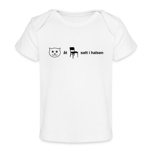 Katt åt stol - Ekologisk T-shirt baby