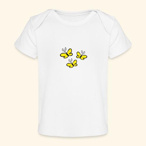 Gelbe Schmetterlinge - Baby Bio-T-Shirt