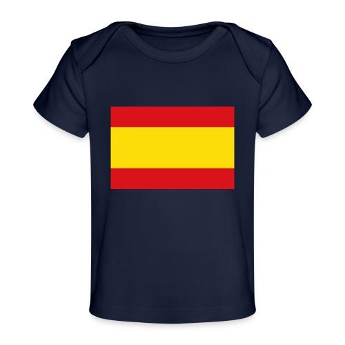 vlag van spanje - Baby bio-T-shirt