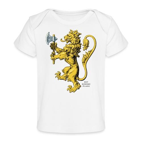 Den norske løve i gammel versjon - Økologisk baby-T-skjorte