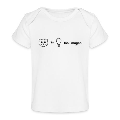 Katt åt lampa - Ekologisk T-shirt baby