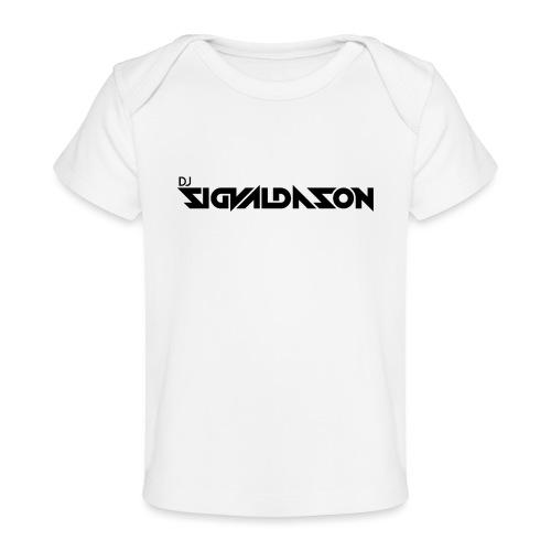 DJ logo sort - Økologisk T-shirt til baby