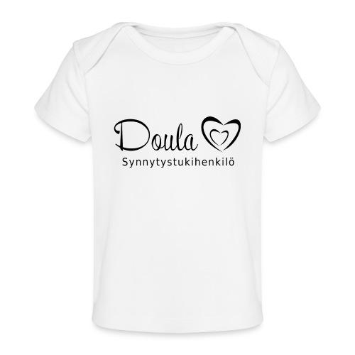 doula sydämet synnytystukihenkilö - Vauvojen luomu-t-paita