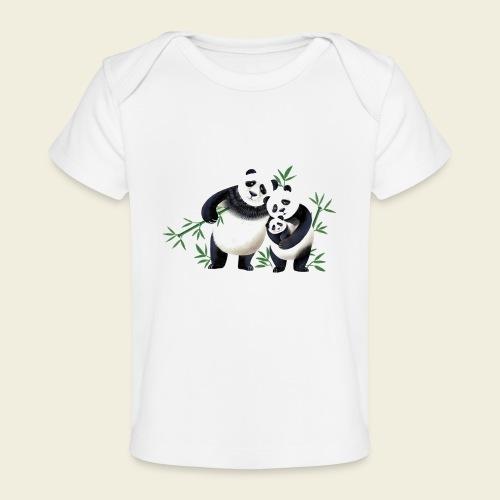 Pandafamilie Baby - Baby Bio-T-Shirt