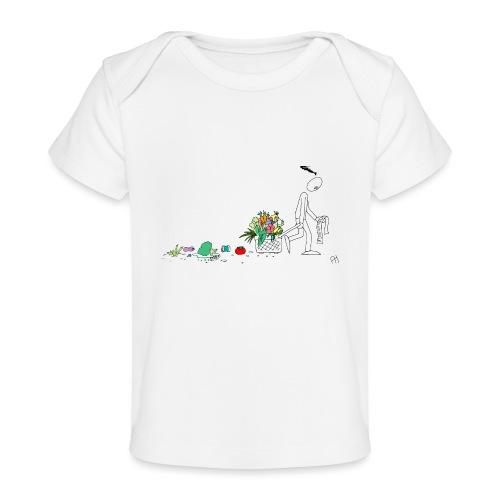 frukt og grønt handleveske - Økologisk baby-T-skjorte
