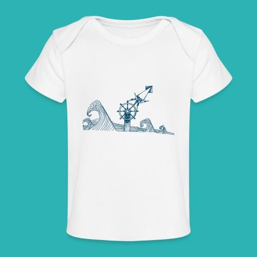 Carta_timone_blu-png - Maglietta ecologica per neonato