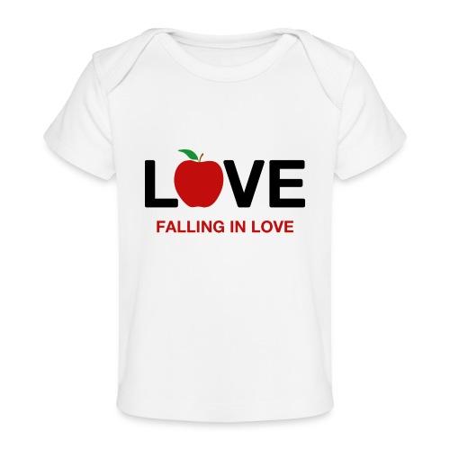 Falling in Love - Black - Organic Baby T-Shirt