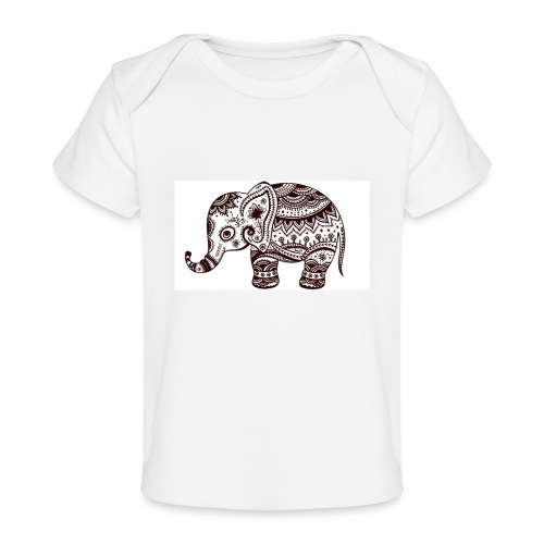 Your-Child Mandala Elefant - Økologisk T-shirt til baby