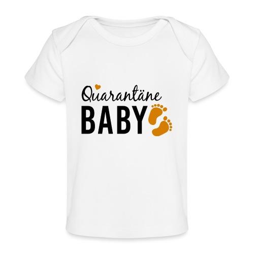 Quarantäne Baby Corona Babybauch Schwangerschaft - Baby Bio-T-Shirt