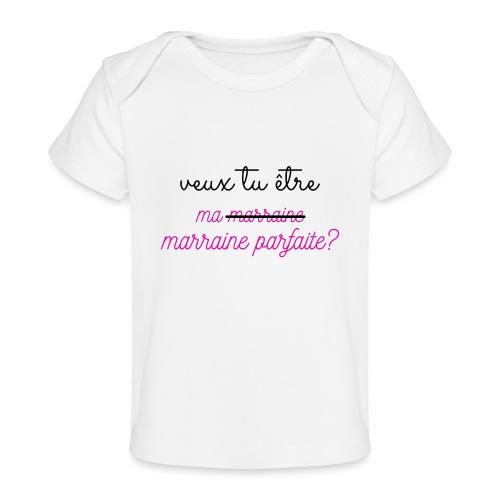 veux tu être ma marraine - T-shirt bio Bébé