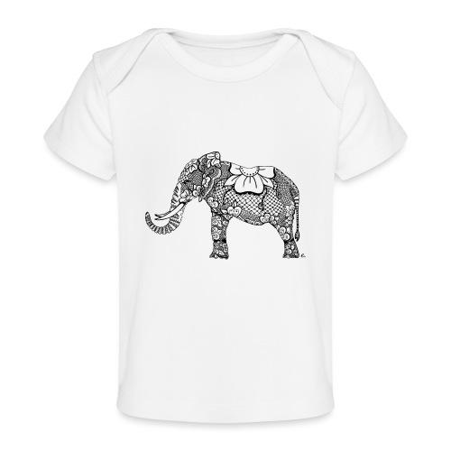 Éléphant oriental - T-shirt bio Bébé