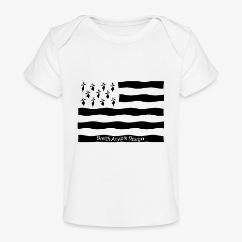 Gwenn ha Du-Noir fond transparent - T-shirt bio Bébé