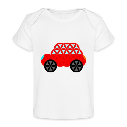 The Car Of Life - M01, Sacred Shapes, Red/R01. - Organic Baby T-Shirt