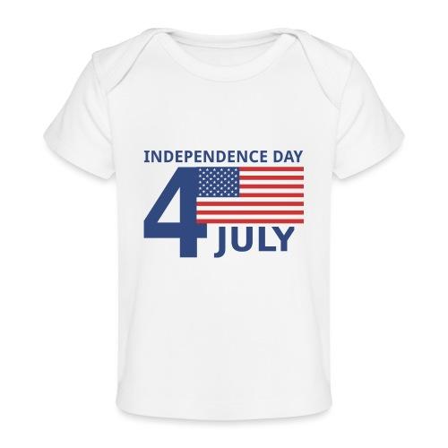 4th of July. 4 luglio - Maglietta ecologica per neonato