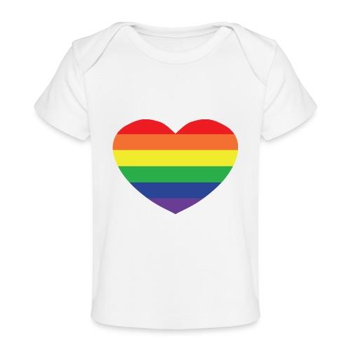 Rainbow heart - Organic Baby T-Shirt