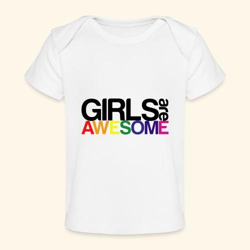 Girls are awesome - Ekologiczna koszulka dla niemowląt