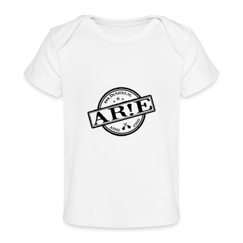 Backdrop AR E stempel zwart gif - Baby bio-T-shirt