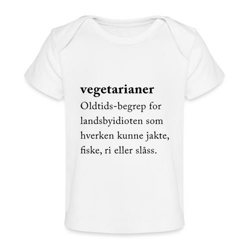 Vegetarianer definisjon - Økologisk baby-T-skjorte
