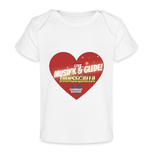 Musikk & Glede Hjertemotiv - Økologisk baby-T-skjorte