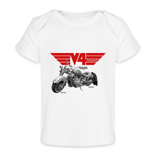 V4 Motorcycles red Wings - Baby Bio-T-Shirt