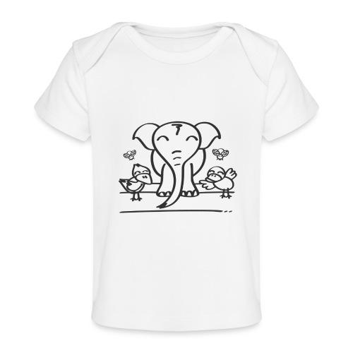 78 elephant - Baby Bio-T-Shirt