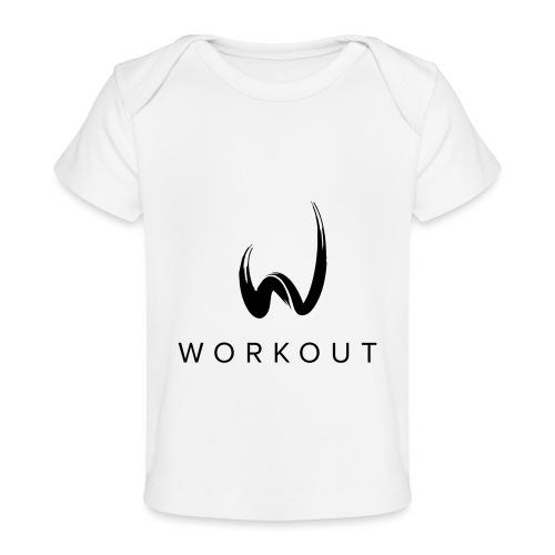 Workout mit Url - Baby Bio-T-Shirt