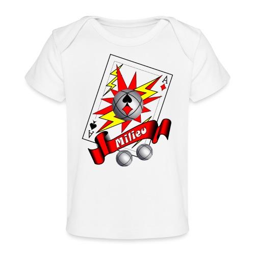 t shirt petanque milieu as des pointeurs as du tir - T-shirt bio Bébé