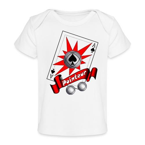 t shirt petanque as des pointeurs boules - T-shirt bio Bébé