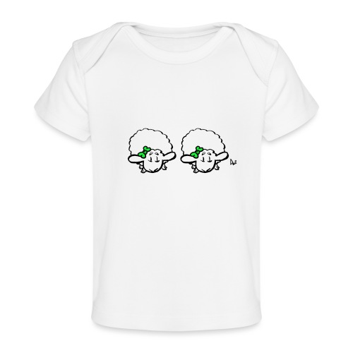 Baby Lamb Twins (verde y verde) - Camiseta orgánica para bebé