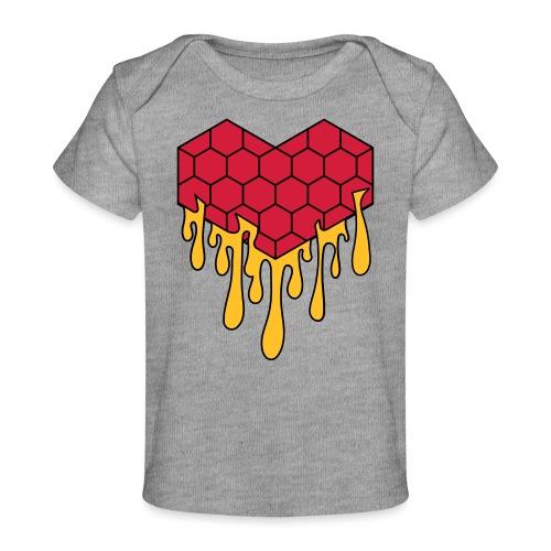 Honey heart cuore miele radeo - Maglietta ecologica per neonato