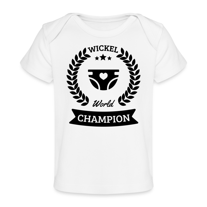 Baby Wickel World Champion - Baby Bio-T-Shirt