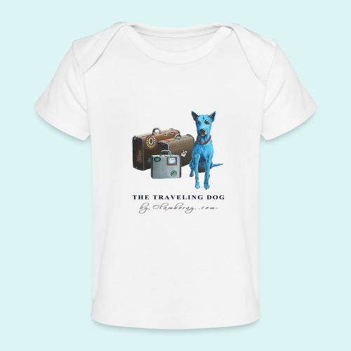 Laly Blue Big - Organic Baby T-Shirt