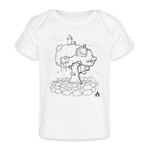Cabane dans un arbre Sketch Line - T-shirt bio Bébé