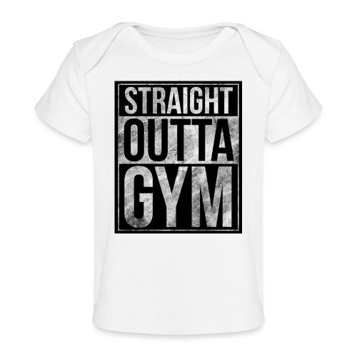 Fitness design - Straight Outta Gym - Organic Baby T-Shirt