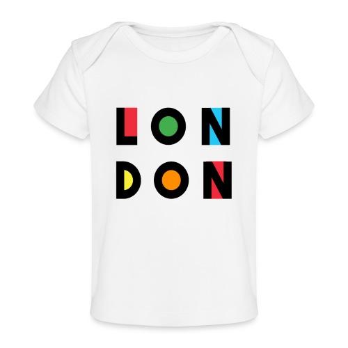 Vintage London Souvenir - Retro Modern Art London - Baby Bio-T-Shirt