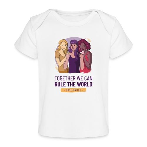 t shirt design generator featuring three women - Camiseta orgánica para bebé