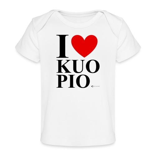 I LOVE KUOPIO ORIGINAL (musta) - Vauvojen luomu-t-paita