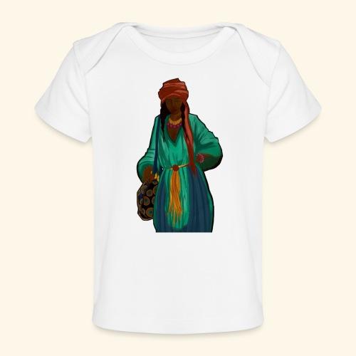Femme avec sac motif - T-shirt bio Bébé