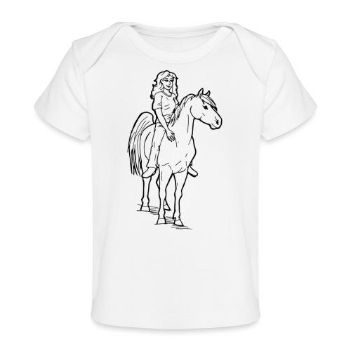 freie Reiterin - Baby Bio-T-Shirt