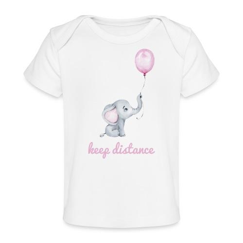 keep distance rosa - Baby Bio-T-Shirt