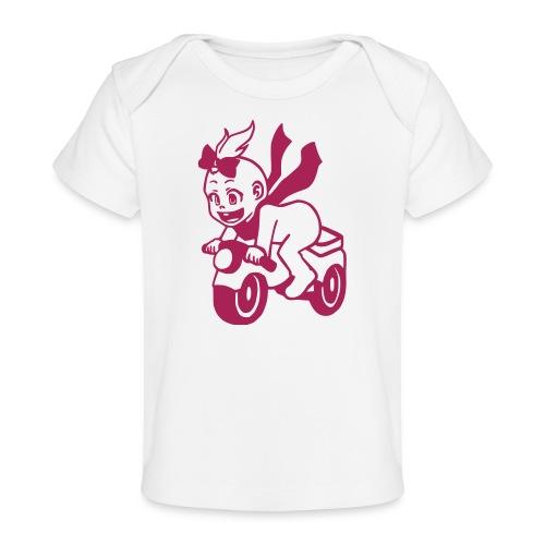 Mädchen auf Motorrad - Baby Bio-T-Shirt