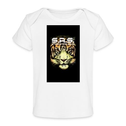 sas tiger wide jpg - Baby bio-T-shirt