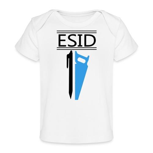 ESID Zwart-blauw - Baby bio-T-shirt