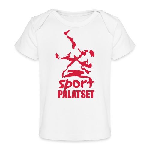 Motiv med röd logga - Ekologisk T-shirt baby