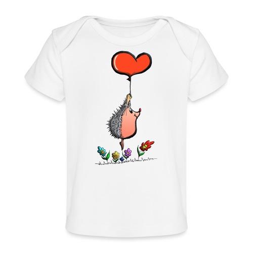 Hérisson avec une ballon pour les amoureux - T-shirt bio Bébé