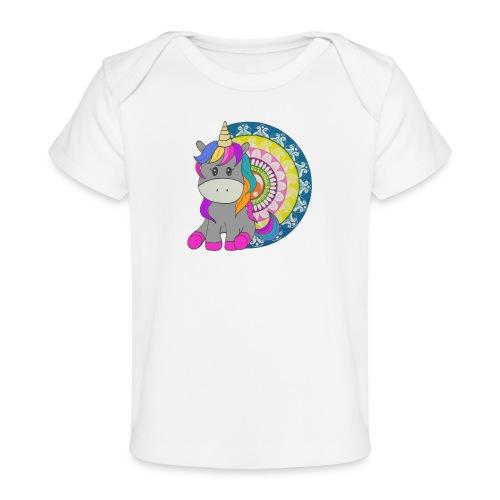 Unicorno Mandala - Maglietta ecologica per neonato