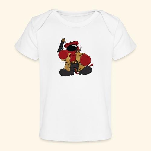 chris bears Der Bär ist ein Superheld - Baby Bio-T-Shirt